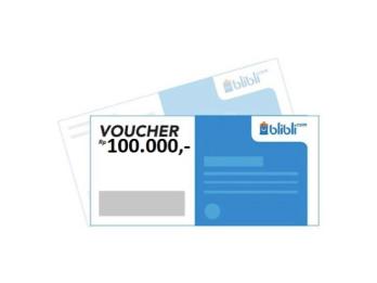Voucher Belanja BliBli 100k