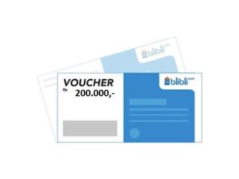 Voucher Blibli 200.000