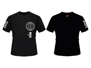 Kaos LAZONE.id Black Globe