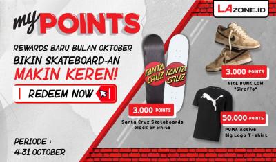 #tukarLAngsung Points Dapat Papan Skate dan Sneakers Nike!